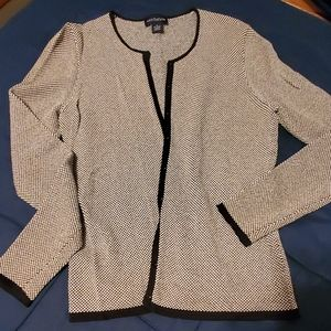Ann Taylor cardigan sweater black and white sz S